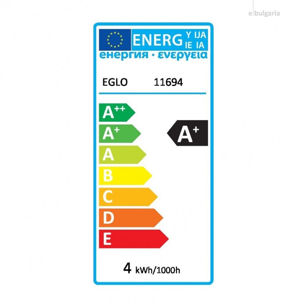 led лампа 4w, е27, топла светлина, eglo, golden age, 1700k, 320lm, 11694