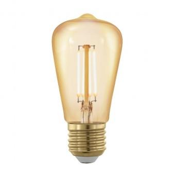led лампа 4w, е27, топла светлина, eglo, golden age, 1700k, 320lm, 11695