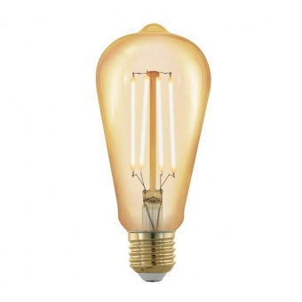 led лампа 4w, е27, топла светлина, eglo, golden age, 1700k, 320lm, 11696