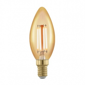 led лампа 4w, е14, топла светлина, eglo, golden age, 1700k, 320lm, 11698