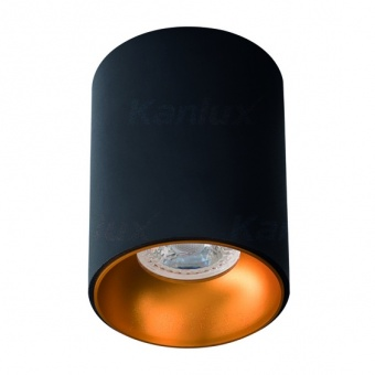 метална луна, black+gold, kanlux, riti, 1x25w, 27571