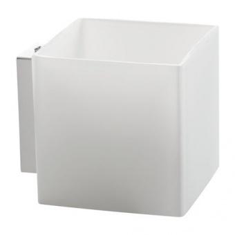 стъклен аплик, white, kanlux, kassi, 1x40w, 27010