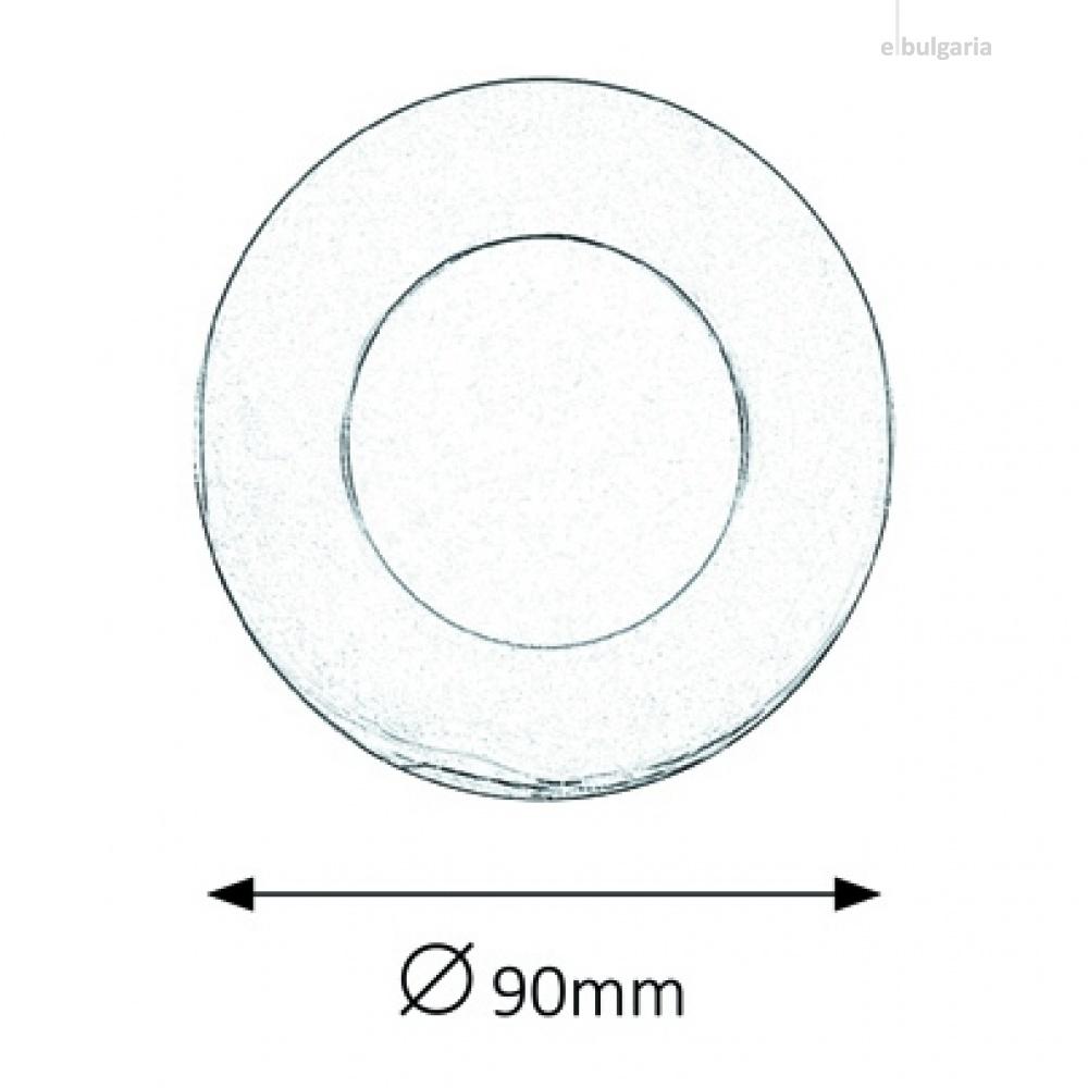 метална луна, chrome, rabalux, lois, led 1x3w, 3000k, 170lm, 5588