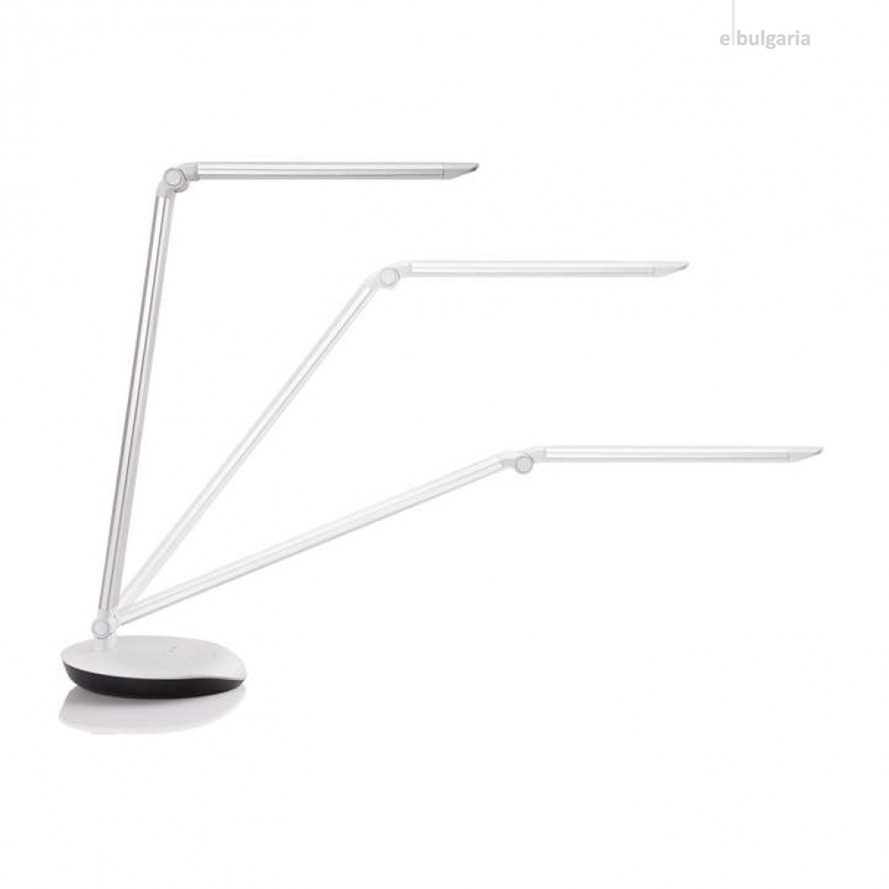 метална работна лампа, white, philips, lever, led 1x5w, 4000k, 400lm, 72007/14/16