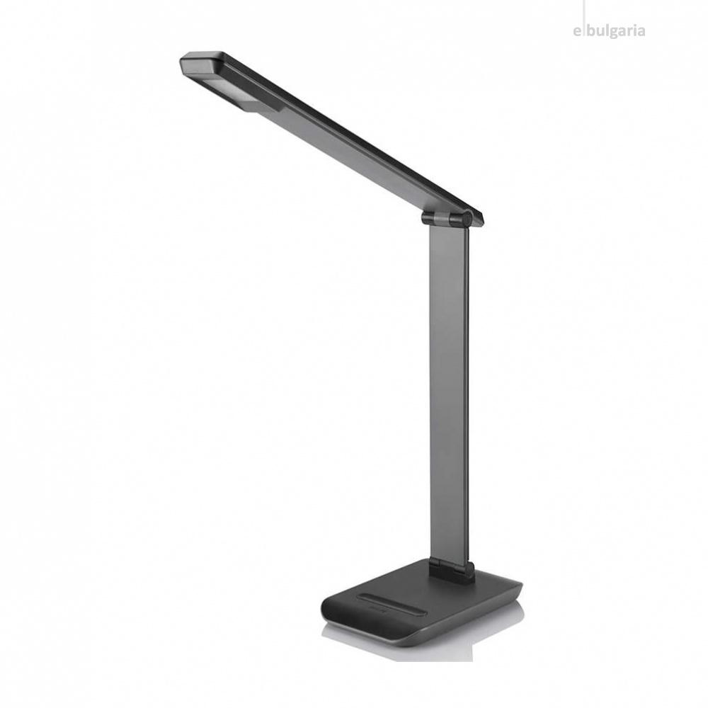 pvc работна лампа, black, philips, crane, led 1x4w, 4000k, 250lm, 71665/30/16