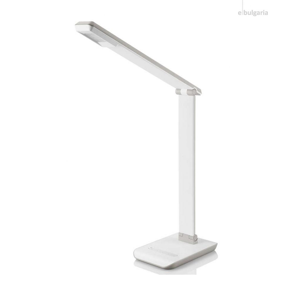 pvc работна лампа, white, philips, crane, led 1x4w, 4000k, 250lm, 71665/31/16