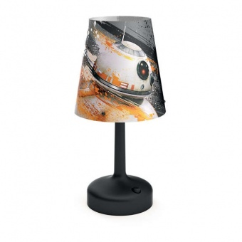 pvc настолна лампа, mixed, philips, star wars, led 1x0.6w, 55lm, 71796/53/p0