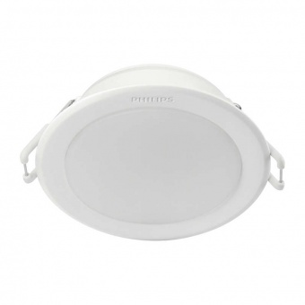 pvc луна, white, philips, meson, led 1x5.5w, 4000k, 650lm, 59201/31/p3