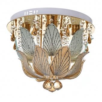 кристален плафон, злато, elbulgaria, led+4x40w, 1831/40 gd
