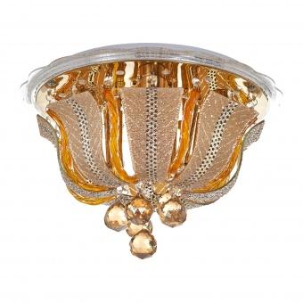кристален плафон, злато, elbulgaria, led+4x40w, 1832/40 gd