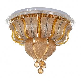 кристален плафон, злато, elbulgaria, led+6x40w, 1832/50 gd