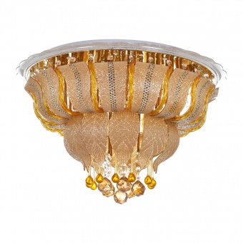 кристален плафон, злато, elbulgaria, led+8x40w, 1832/60 gd