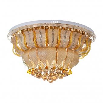 кристален плафон, злато, elbulgaria, led+15x40w, 1832/80 gd