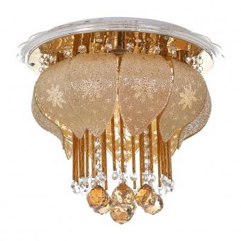кристален плафон, злато, elbulgaria, led+4x40w, 1833/40 gd
