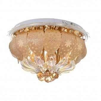 кристален плафон, злато, elbulgaria, led+6x40w, 1833/50 gd