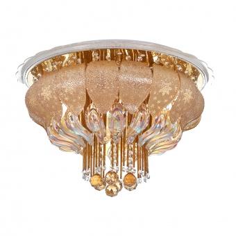 кристален плафон, злато, elbulgaria, led+8x40w, 1833/60 gd