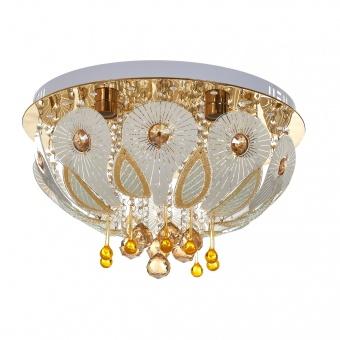 кристален плафон, злато, elbulgaria, led+6x40w, 1834/50 gd