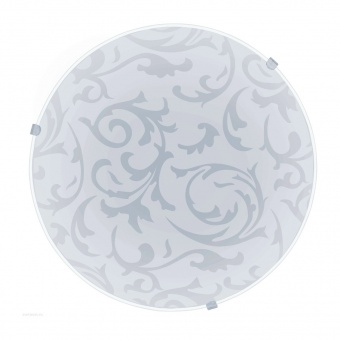стъклен плафон, white, eglo, mars, 1x60w, 91236