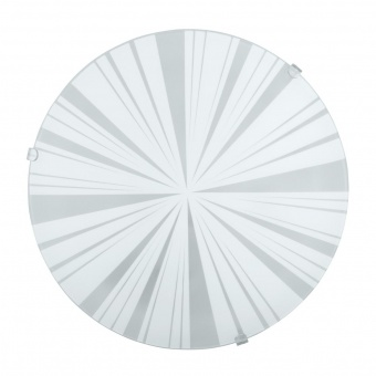 стъклен плафон, white, eglo, mars 1, 1x60w, 89239