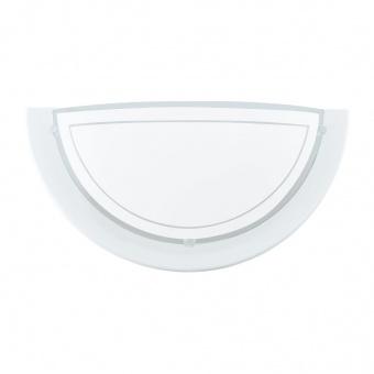 стъклен аплик, white, eglo, planet 1, 1x60w, 83154