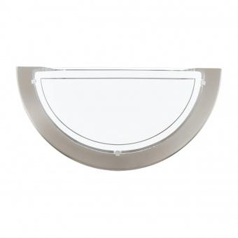 стъклен аплик, satin nickel, eglo, planet 1, 1x60w, 83163
