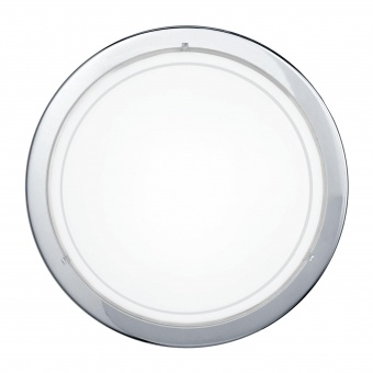 стъклен плафон, chrome, eglo, planet 1, 1x60w, 83155