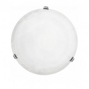 стъклен плафон, chrome, eglo, salome, 2x60w, 7184