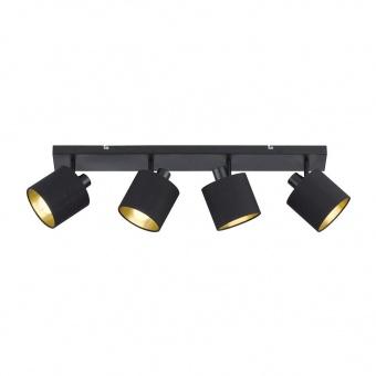 метален спот, black, rl, tommy, 4x28w, r80334079