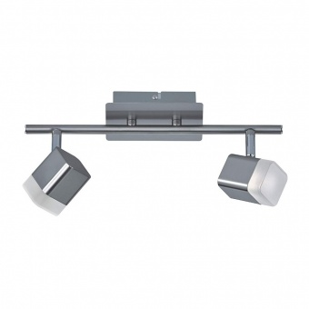 метален спот, nickel mat, rl, roubaix, led 2x4w, 3000k, 2x400lm, r82152107