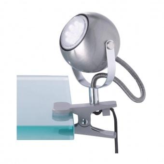 метална настолна лампа, nickel mat, rl, bastia, 1x18w, r20051107