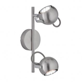 метален спот, nickel mat, rl, bastia, 2x25w, r80052007