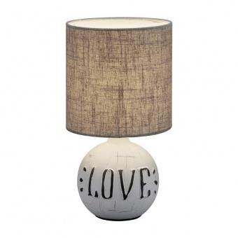 керамична настолна лампа, white, rl, esna, 1x40w, r50661025