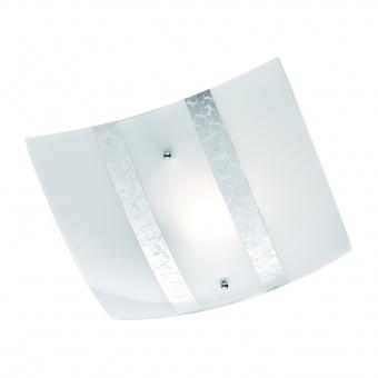 стъклен плафон, white, trio, nikosia, 1x40w, 608700189