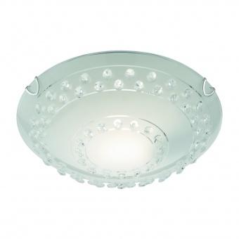 стъклен плафон, white, trio, christobal, 1x40w, 607700100