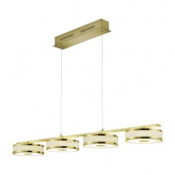 метален пендел, gold, trio, agento, 4x7.5w, 3000k, 4x750lm, 378010408