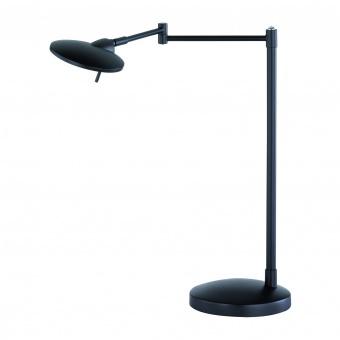 метална работна лампа, black matt, trio, kazan, led 1x8w, 3000k, 1x750lm, 574790132