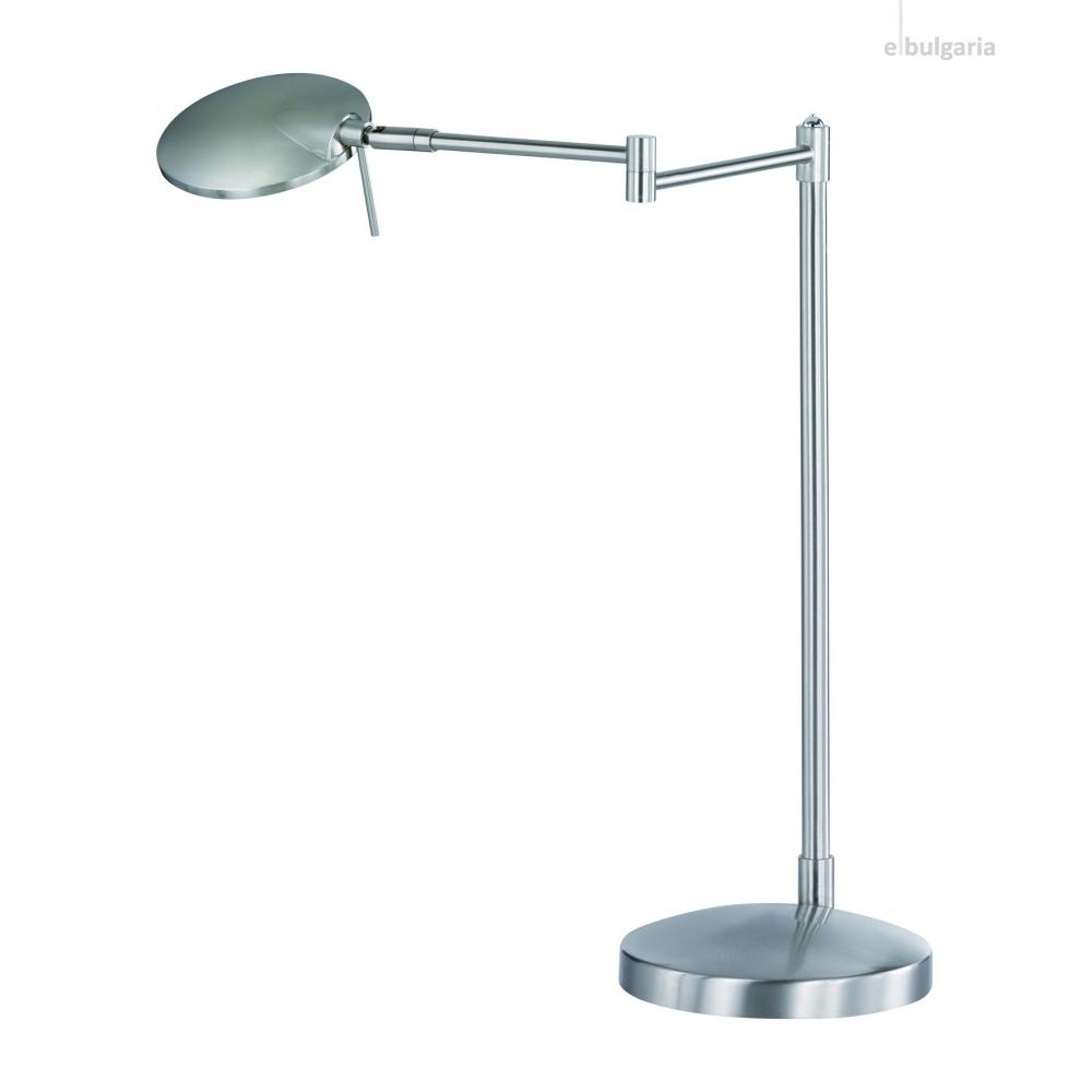 метална работна лампа, nickel matt, trio, kazan, led 1x8w, 3000k, 1x750lm,574790107