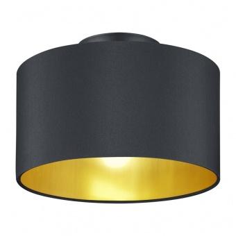 текстилен плафон, matt black, trio, hostel, 2x40w, 608200279