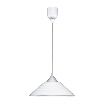 стъклен пендел, white, trio, diego, 1x60w, 301400101