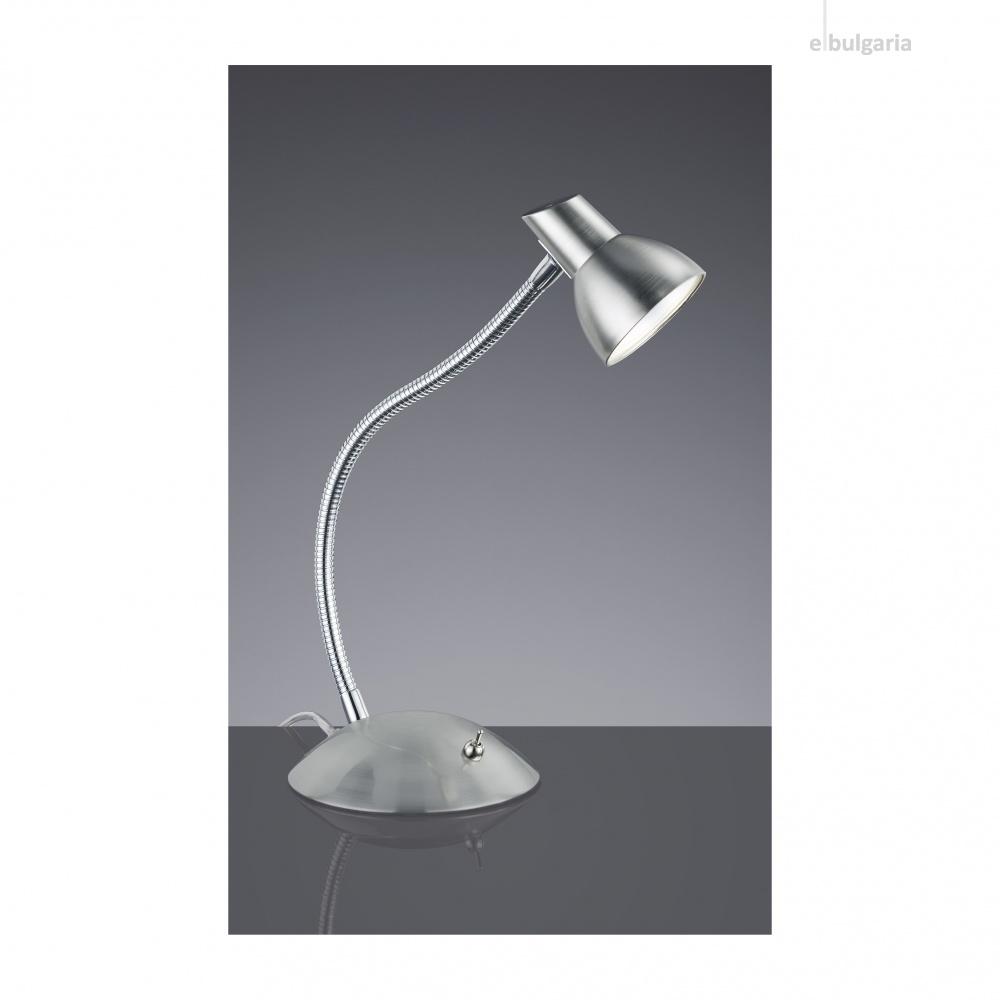 метална работна лампа, nickel matt, trio, kolibri, led 1x4.4w, 3000k, 1x450lm, 527810107