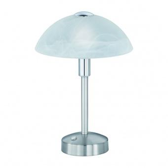 стъклена настолна лампа, nickel matt, trio, donna, led 1x4w, 3000k, 1x350lm, 525790107