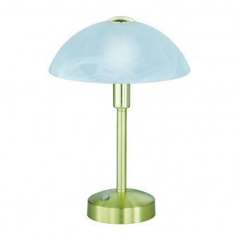 стъклена настолна лампа, messing matt, trio, donna, led 1x4w, 3000k, 1x350lm, 525790108