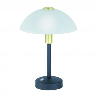 стъклена настолна лампа, black matt, trio, donna, led 1x4w, 3000k, 1x350lm, 525790132