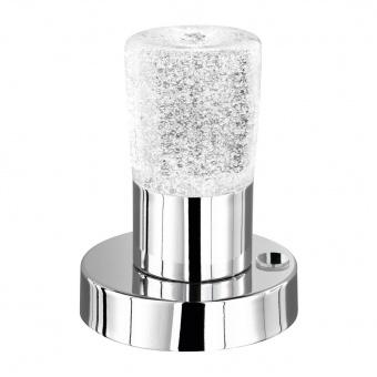 стъклена настолна лампа, chrome, trio, cristo, led 1x4.3w, 3000k, 1x430lm, 529690100