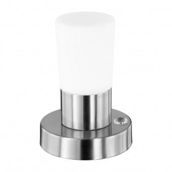 стъклена настолна лампа, chrome, trio, cristo, led 1x4.3w, 3000k, 1x430lm, 529690107