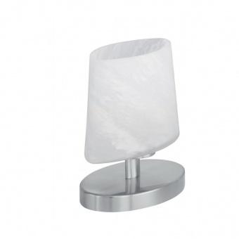 стъклена настолна лампа, nickel matt, trio, monti, 1x8w, 592000107