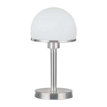 стъклена настолна лампа, nickel matt, trio, joost, 1x60w, 5922011-07