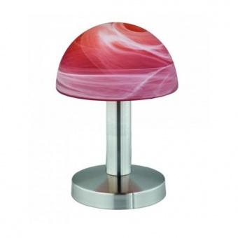 стъклена настолна лампа, orange, trio, fynn, 1x40w, 599000118