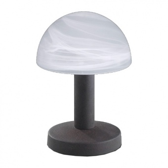 стъклена настолна лампа, rust colored, trio, fynn, 1x40w, 599000124