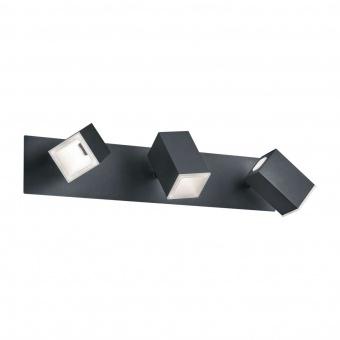 метален спот, black matt, trio, lagos, led 3x6w, 3000k, 3x550lm, 827890332